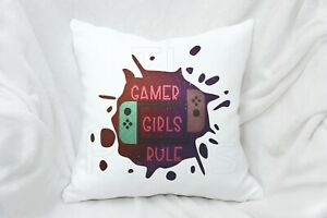 Gamer Girl Rule Gift, Pillow Cushion Gift For Girl Women Mother Girlfriend Game