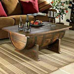Fass Tisch Couchtisch Massivholz Fichte Eiche Neu Ebay