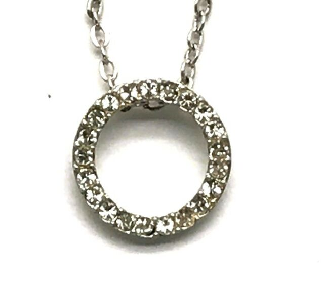 Round CZ Love Collar Necklace Sterling Silver 925 Faceted Heart green Amethyst