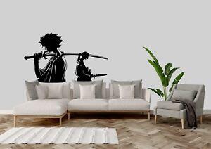 Samurai-Champloo-Mugen-And-Jin-Anime-Inspired-Home-Wall-Art-Decal-Vinyl-Sticker