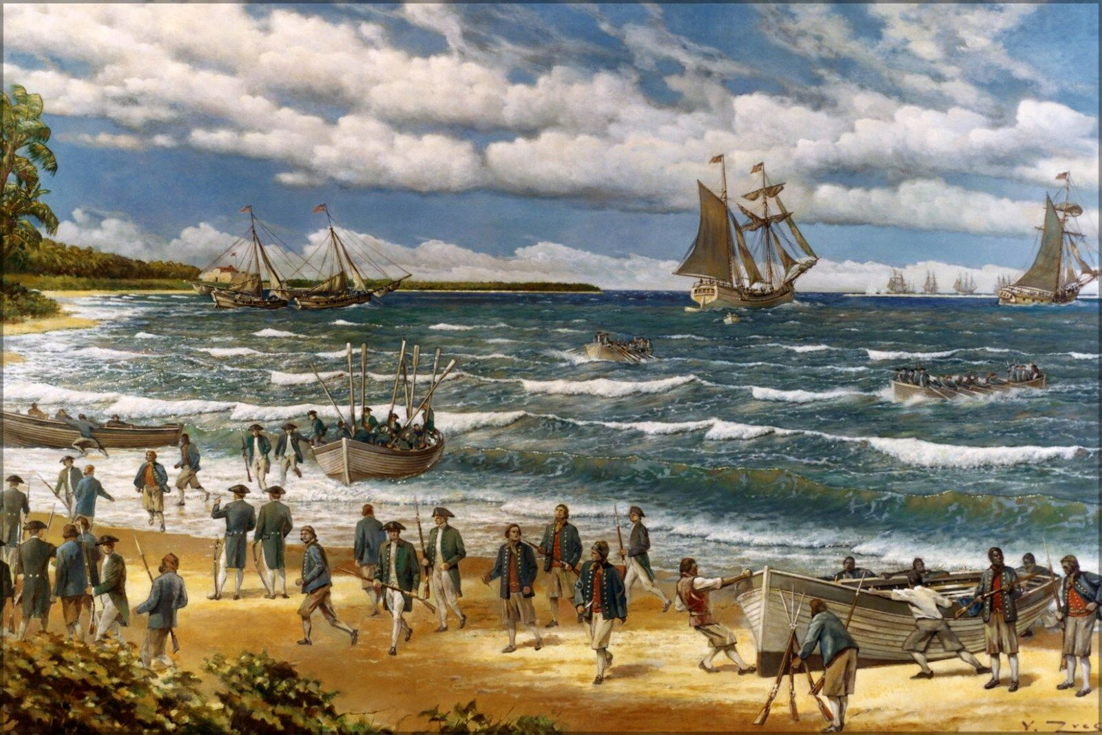 Poster, Many Größes; United States Marines Landing In Bahamas, On 3 March 1776