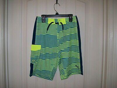 Ocean Pacific Boys Blue Aruba Stripes Swim Shorts