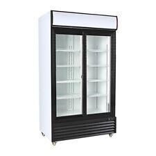 Procool Double Sliding Door Display Beverage Cooler Merchandiser Refrigerator