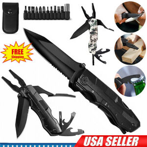 Multi tool Knife Multipurpose Outdoor Folding Pocket Pliers Multitool