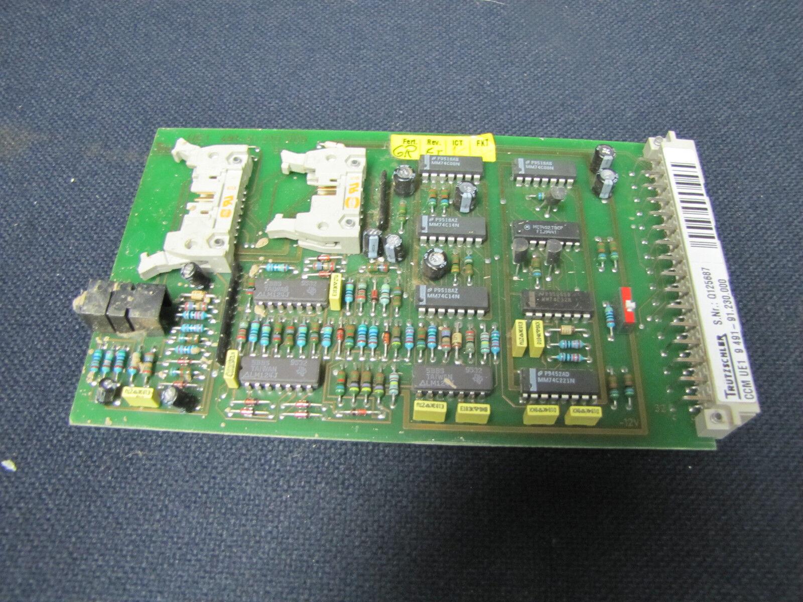 TRUTZSCHLER CIRCUIT BOARD CARD PLC MODULE CCM-UE1 CCMUE1 9 491-91.230.000