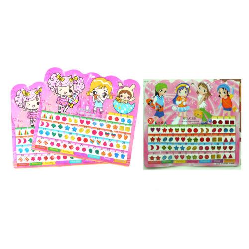 5 feuille//300x cristal boucle d/'oreille autocollant enfants bijoux partie jouetX