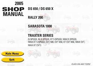 Bombardier Traxter 500 Max Manual 2005 Service//Repair Manual PDF Workshop CD