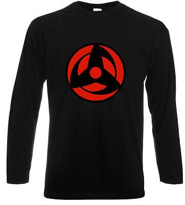KAKASHI Mangekyo Sharingan NARUTO Anime Long Sleeve Black T-Shirt Size S-3XL