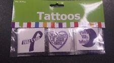 36 Tattoos RELAY FOR LIFE Cancer Awareness Purple Ribbon Temporary Tattoos