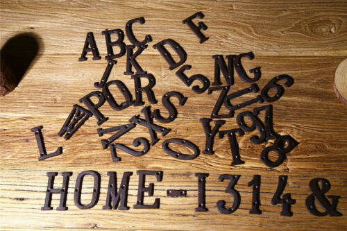 Vintage Iron Antique Number Metal Door Numbers Home Bar Wall Decor Hanging Party