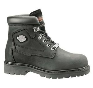 Harley-Davidson-Men-039-s-Badlands-Motorcycle-Riding-Black-Leather-Boots-D91005