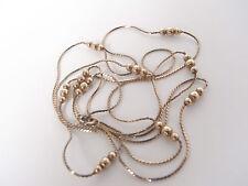Lebendige lange Silber Kette (vergoldet) -  Silberkette