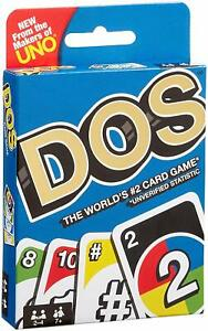 Dos-Card-Game-From-The-Makers-Of-Uno-Mattel-New-Sealed-Pack-From-UK-Multicolors