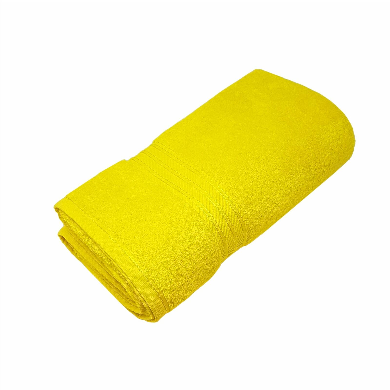 20 X Luxus Gestreift 100% Ägyptische Baumwolle Weich Absorbierend Gelb Badelaken