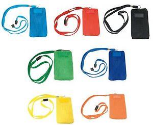Porta cellulare mp3 da collo 5 5x11 cm 7 colori ebay - Si porta al collo ...