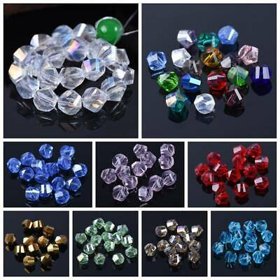 20pcs 10mm Helix Twist Faceted Crystal Glass Loose Spacer Beads lot DIY Findings