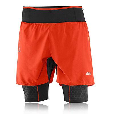 Salomon S-Lab Exo Tw Herren Laufhose Shorts Sport Kurze Hose Sporthose Orange