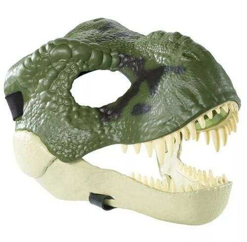 TYRANNOSAURUS T-REX GREEN MASK Jurassic World Dinosaur Moveable Jaw