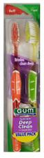 12 SUNSTAR GUM Technique Deep Clean Quad Grip Toothbrushes Regular Soft 524