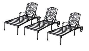 Patio-chaise-lounge-set-3-adjustable-outdoor-Elisabeth-cast-aluminum-Bronze