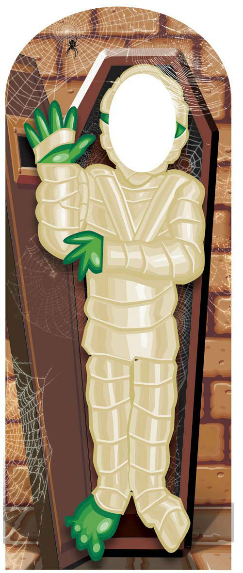Mummy Stand In Scary Cardboard Cutout Stand Up Great for Halloween parties