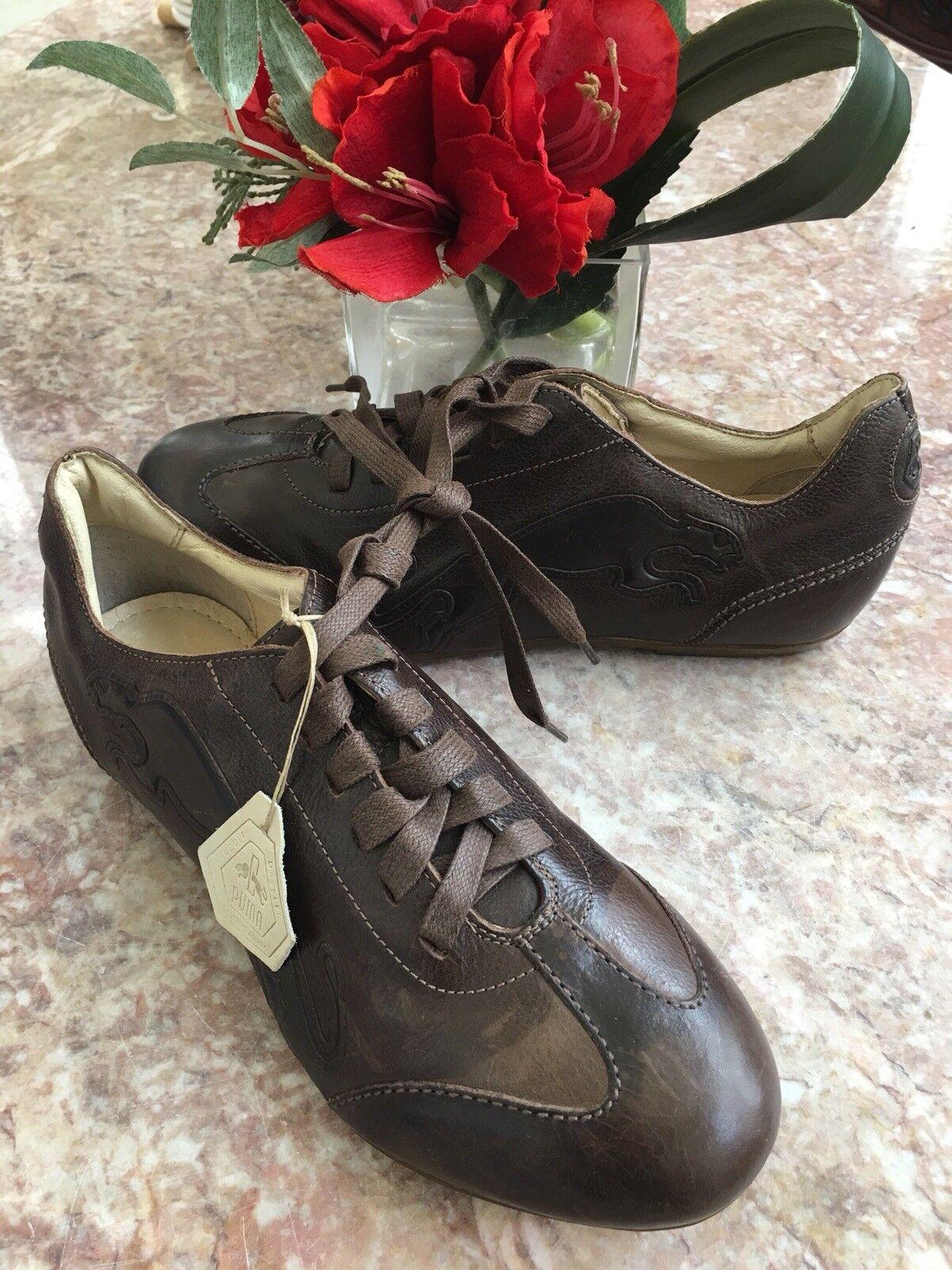 New Puma Rudolf Dassler Schuhfabrik Men's Brown Leather shoes Size US 5