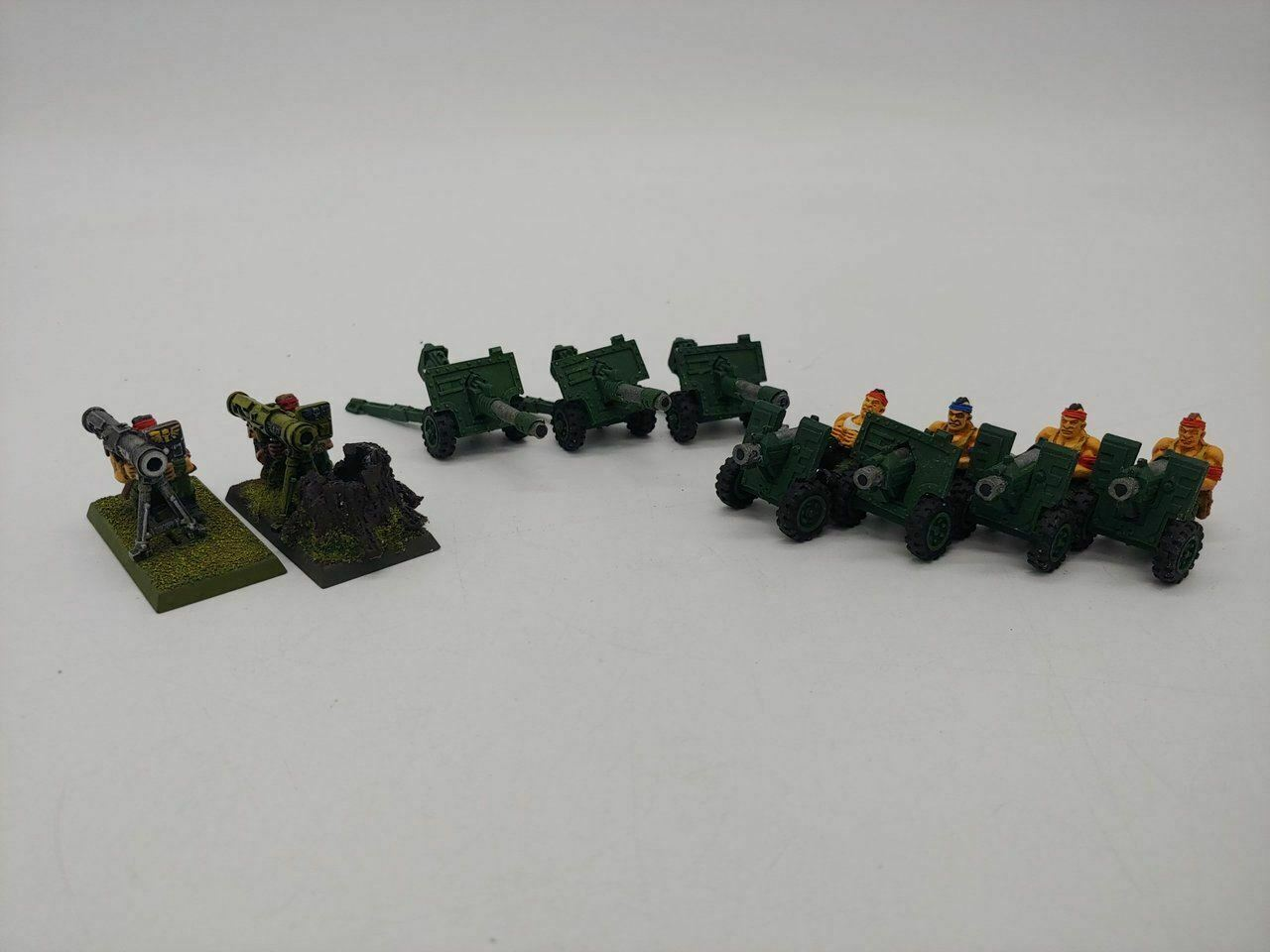 9 x Heavy Weapon Squads (Old School OOP) for Warhammer 40K Astra Militarum