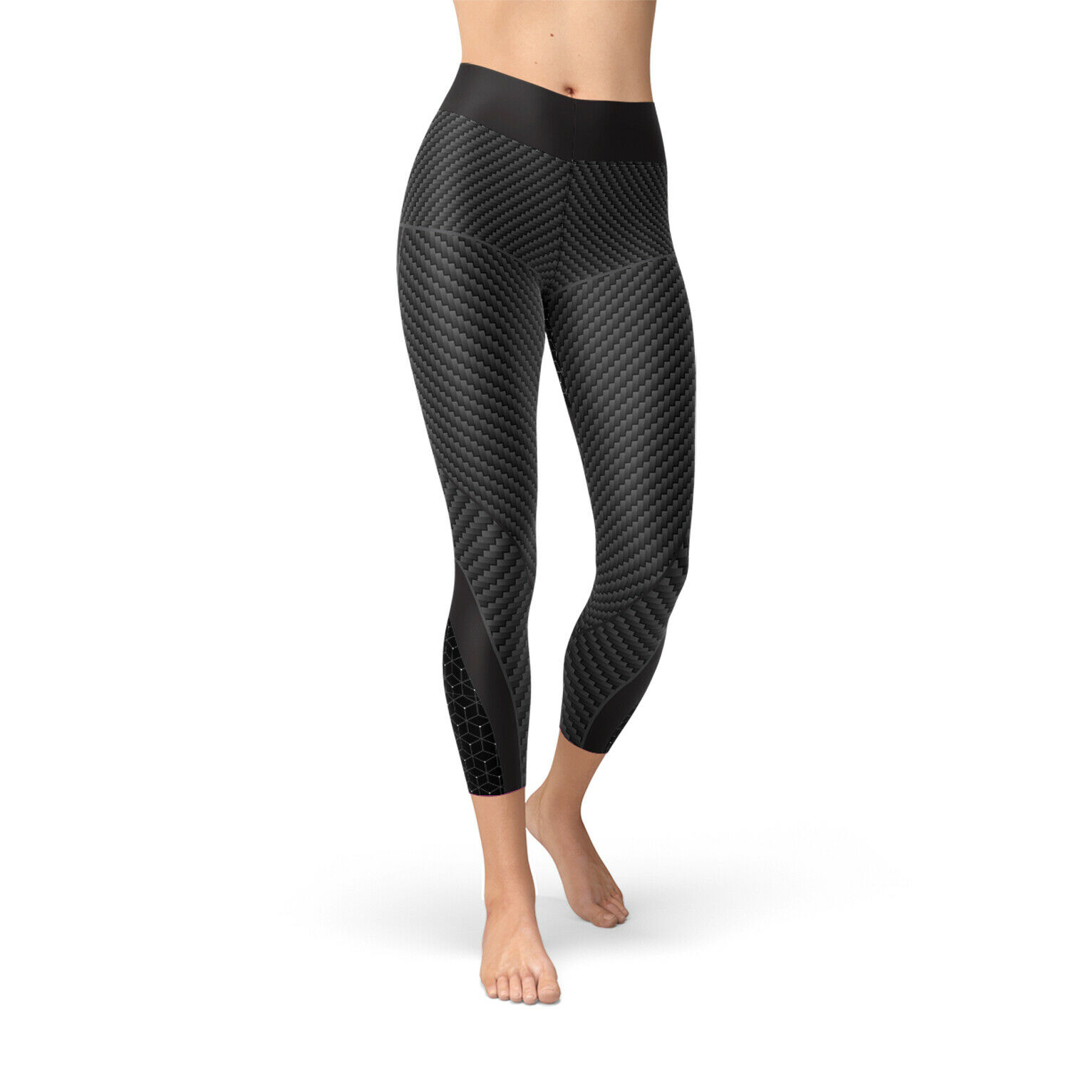 Carbon Fiber Yoga  Capri Leggings For Women High Waisted Mid Calf Length Pants  professional integrated online shopping mall