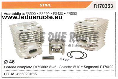 PISTON /& RING KIT FITS STIHL FS//FR550  46mm