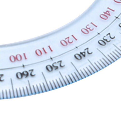 Protractor Ruler Angle Finder Swing Arm 360 Degree Pointer School Supplies 6A