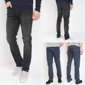 Mens-Slim-Straight-Jeans-Ex-Designer-Casual-Regular-Fit-Denim-Jeans