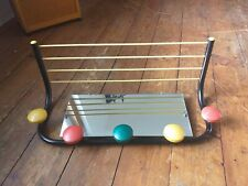 VINTAGE FRENCH MID CENTURY  MULTI-COLOURED  WALL HANGING COAT / HAT RACK