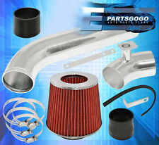1992-1998 BMW E36 325i 325i Cold Air Intake Inudction System Polish + Red Filter