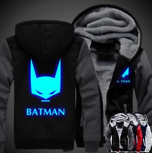 New Batman warm Thicken Hoodie Jacket Cosplay Sweater fleece coat clothing Football-NFL