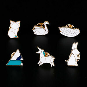 For-Girls-Kids-Enamel-Brooches-Badge-Hijab-Pins-Women-Jewelry-Origami-Animals