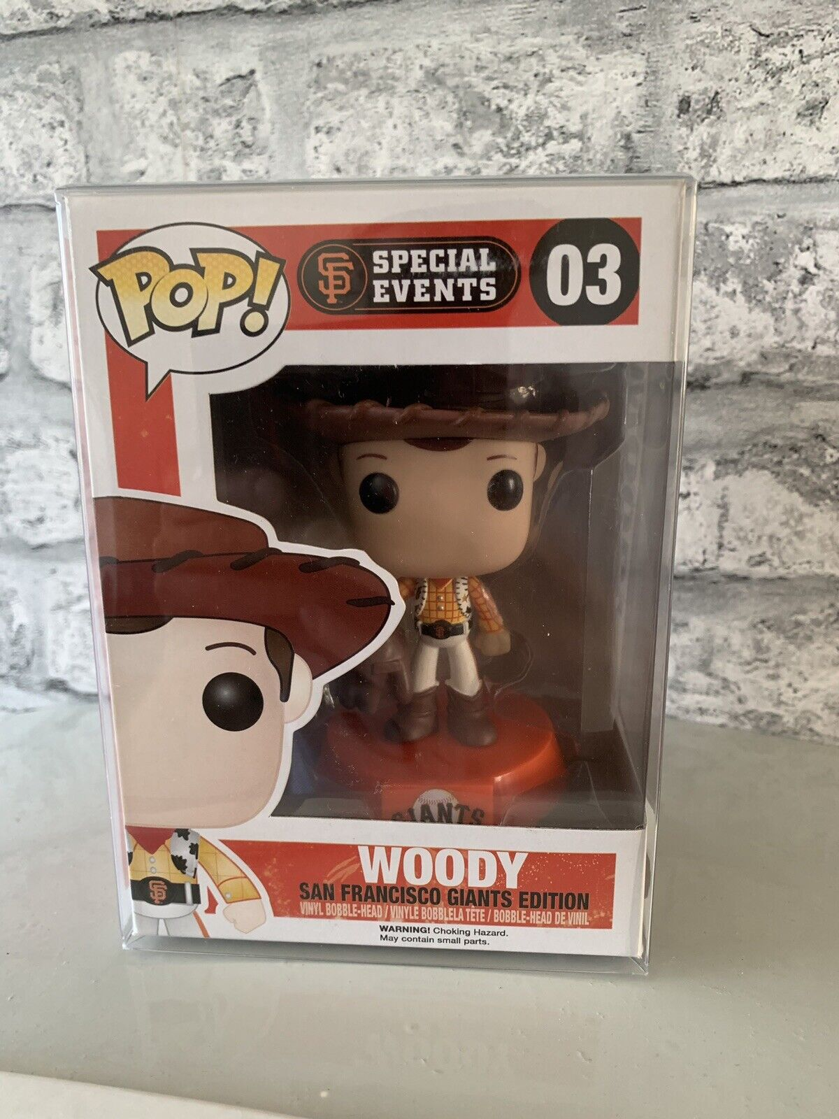 FUNKO POP VINYL WOODY SAN FRANCISCO GIANTS  03 SPECIAL EVENTS VAULTED TOY STORY