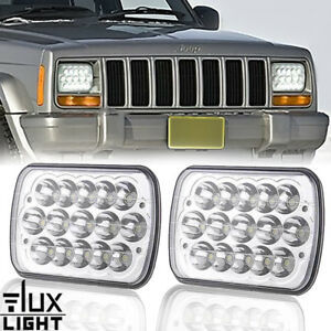 Dot 2PCS 7x6 LED Headlights for Western Star 4900 Semi Truck Commercial Vehicle
