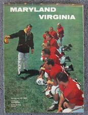 11/23/1963 Virginia Cavaliers v Maryland Terrapins NCAA Football Program