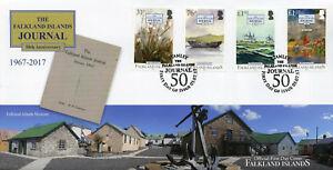 Islas-Malvinas-2017-FDC-las-Malvinas-Diario-50th-4-V-Cubierta-de-Barcos-Botes-sellos