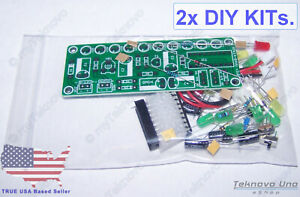 Details about 2x LM3915 LED Audio Sound Level Indicator VU Meter DIY KIT  8-12V-DC v3 0 - USA