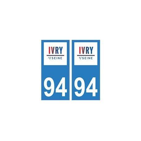 94 Ivry-sur-Seine logo autocollant sticker plaque immatriculation ville droits