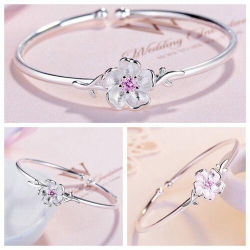 Pretty Sakura Blüten Armband Offen Verstellbar Armreif Schmuck Damen 1stk