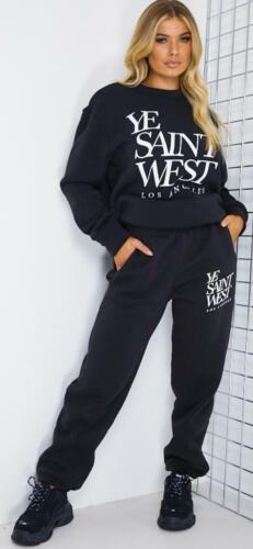 Femmes Survêtement Lounge Wear YE Saint West Casual Costume Sweat Los Angles