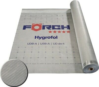 Hygrofol 140 Förch 150m² Unterscheidungskraft FüR Seine Traditionellen Eigenschaften unterspannbahn Diffusionsoffen DemüTigen Unterdeckbahn