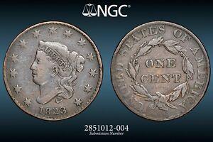 1823/2 Coronet or Matron Head Large Cent NGC Very Fine VF-20 BN N-1
