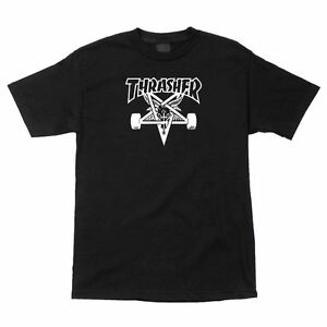 Thrasher-Magazine-SKATE-GOAT-Skateboard-Shirt-BLACK-MEDIUM