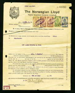 Norway-Stamps-Lot-of-13-Documents-with-Revenues-from-1917