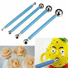 4 Pcs Fondant Cake Flower Metal Ball Modelling Decor Sugar craft Tools Set