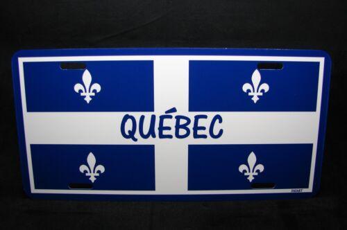 QUEBEC FLAG CAR LICENSE PLATE  PLAQUE DE LICENCE DU DRAPEAU DU QUÉBEC