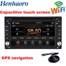 Henhaoro 2din in dash Car DVD Player GPS wifi Capacitive touch screen RDS camera